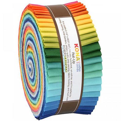 Robert Kaufman Summer New Colours Kona Solids Roll Up