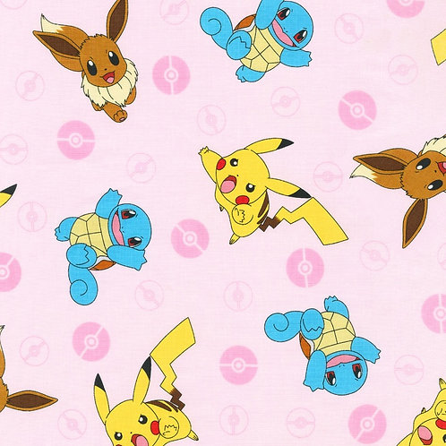 Pokemon Pink Character Fabric