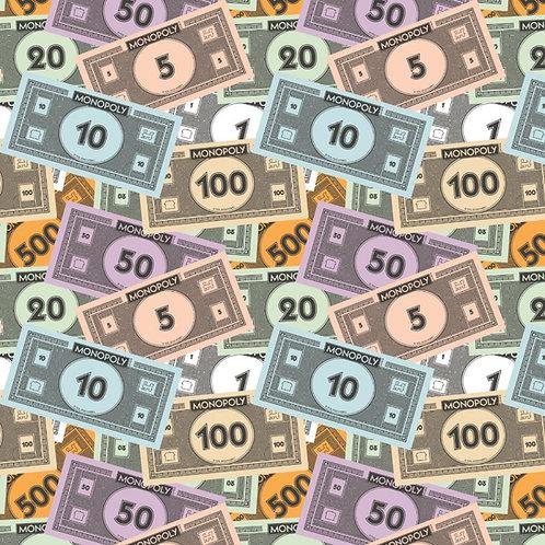 Monopoly Money Fabric