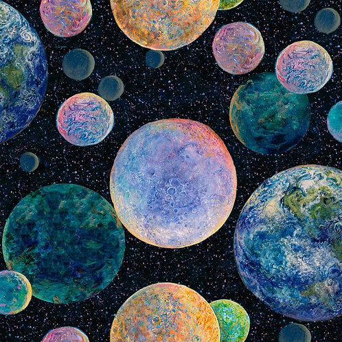 Celestial Journey Planets Fabric
