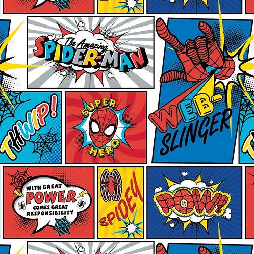 Marvel Kawaii Spider-Man Blocks Fabric