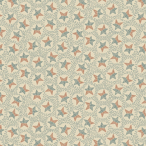 Anni Downs All For Christmas Cream Stars Fabric