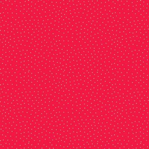 Yuletide Spot Red Fabric Makower 2247/R