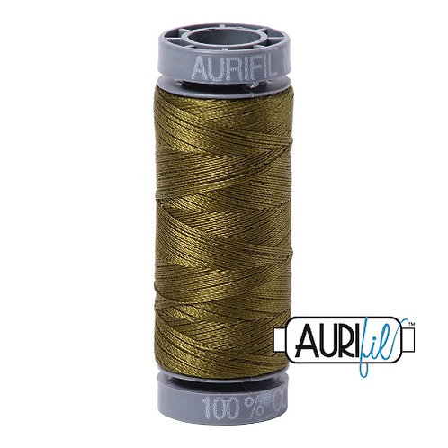 Aurifil 28 100m 2887 Very Dark Olive Cotton Thread
