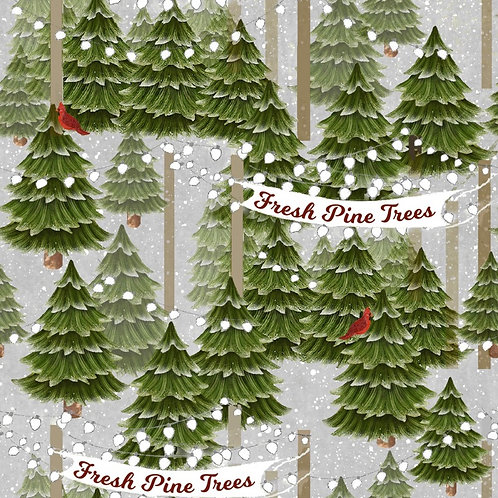 Home for The Holidays Christmas Trees Fabric