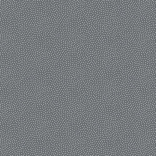 Makower Freckle Dot Grey and White Fabric 9436/C