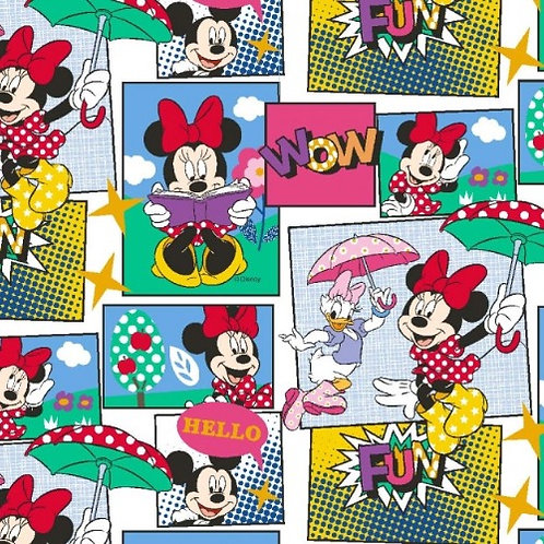 Minnie Mouse  and Daisy Duck Jersey Fabric