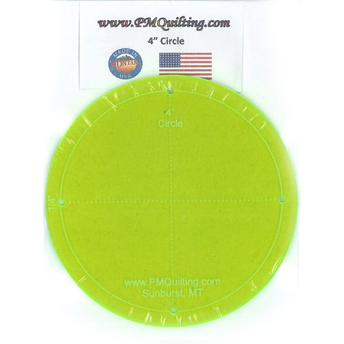 """PM Quilting 4"""" Circle Template"""