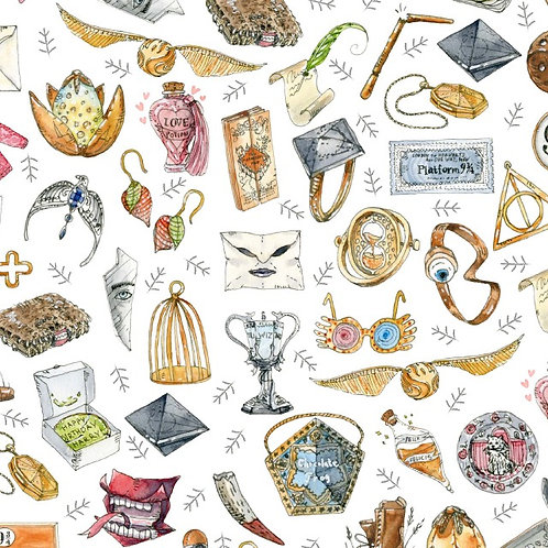 Harry Potter Magical Objects Fabric