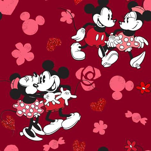 Disney Mickey and Minnie Mouse Love Fabric