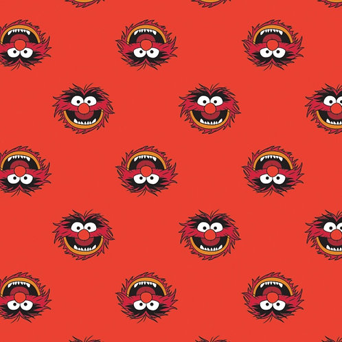 Disney The Muppets Animal Fabric - Red