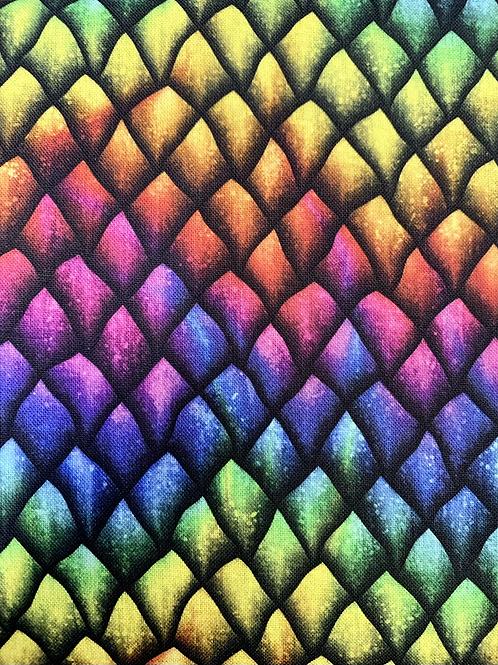 Multi Dragon Scales Fabric