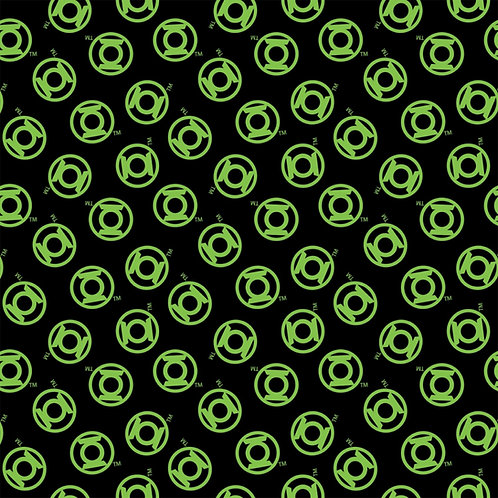DC Comics Green Lantern Logo Fabric - Black