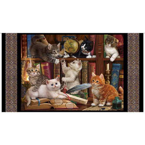 Literary Kitties - Quilting Treasures Cat Fabric