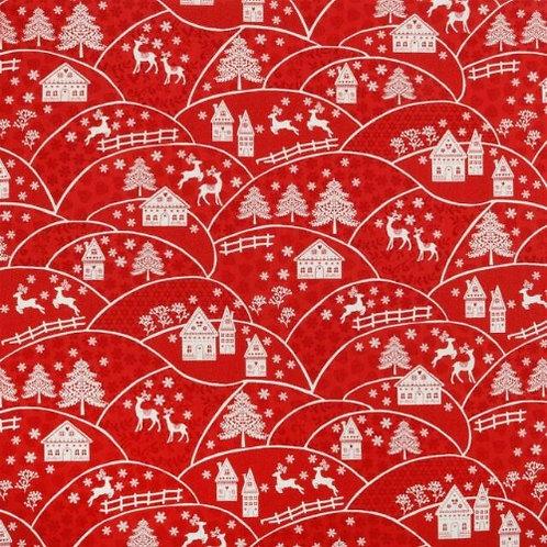 Landscape Makower Scandi Christmas Fabric