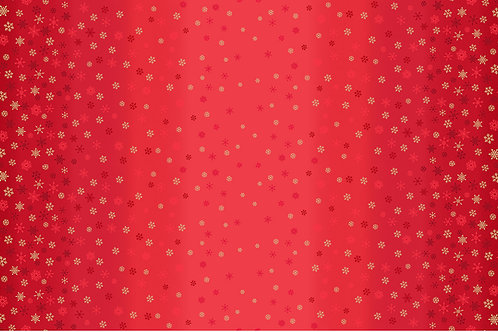 Ombre Snowflake Red Fabric Makower 2248/R