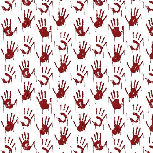 Psyco Red Hands Fabric