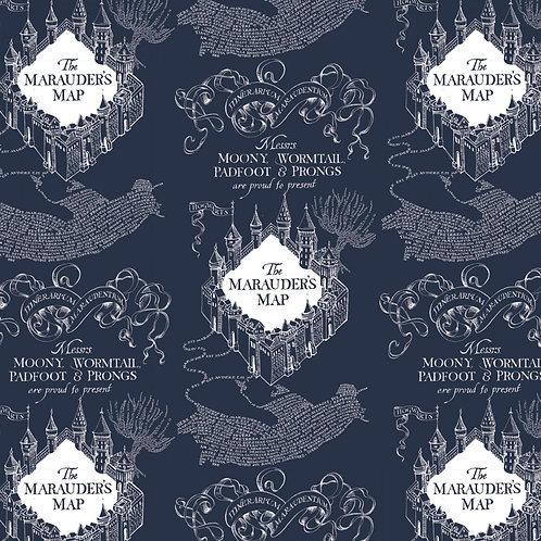 Harry Potter Marauders Map Flannel Fabric