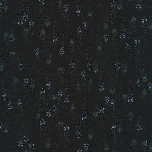 Moonlight Midnight Stars Fabric w/Glitter Metallic