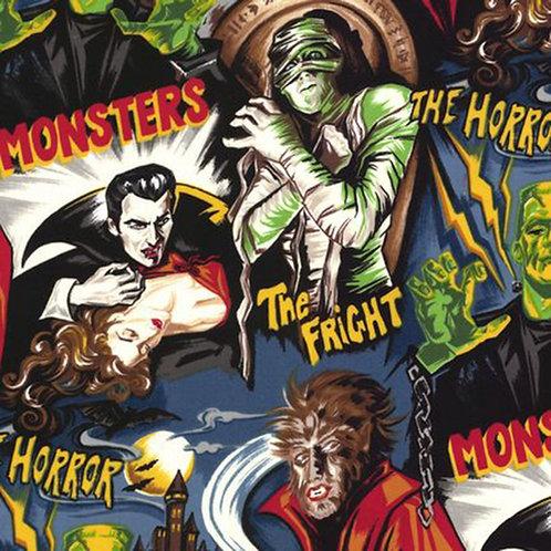Midnight Monsters Halloween Fabric