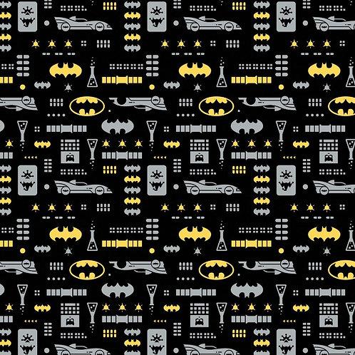 Batman Icons Fabric - Black
