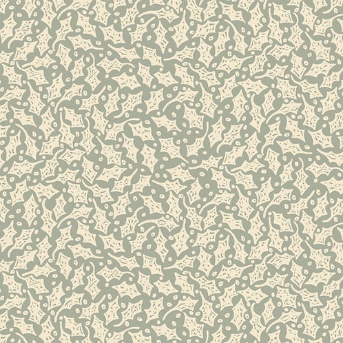 Anni Downs All For Christmas Blue Holly Fabric