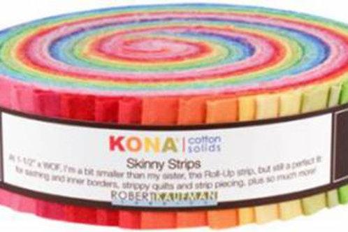 Robert Kaufman Kona Solids Bright Palette Skinny Strips/ Honey Bun