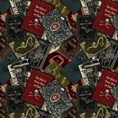 Wicked Fog Black Spellbooks Fabric