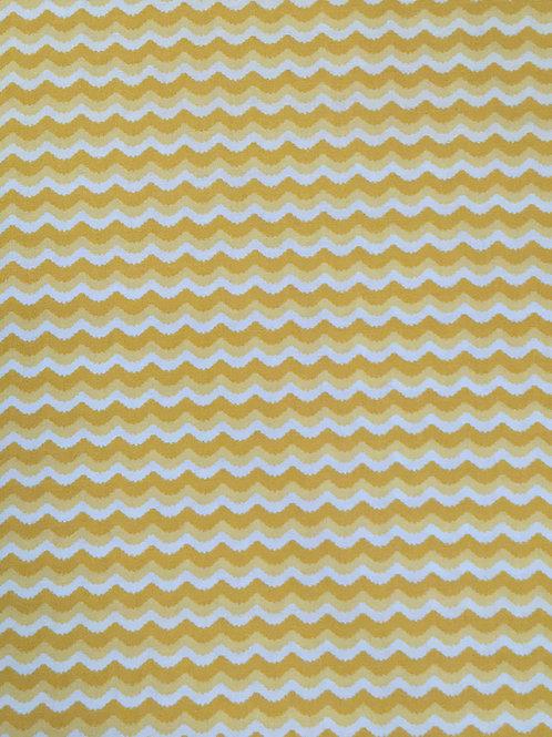 Yellow Wave Pattern Fabric