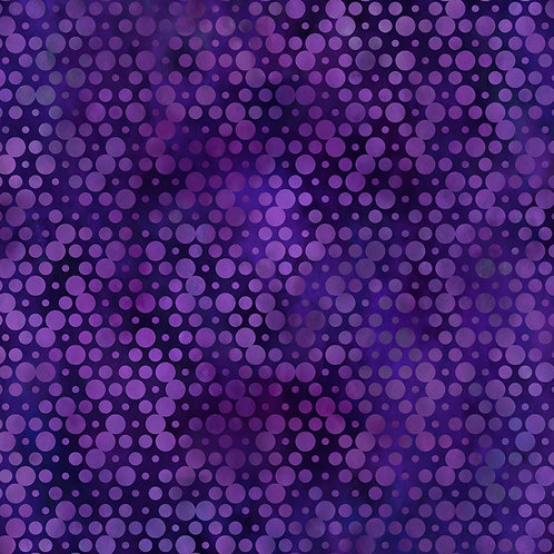 Urban Jungle Circles Fabric - Purple
