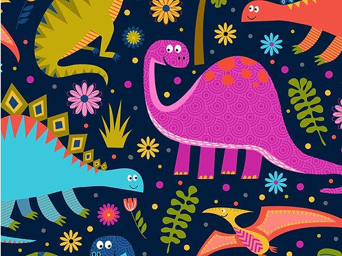 Dino World Dinosaur Fabric