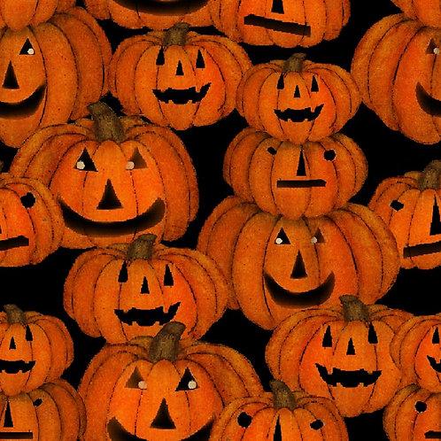 Spooky Night Pumpkins Fabric