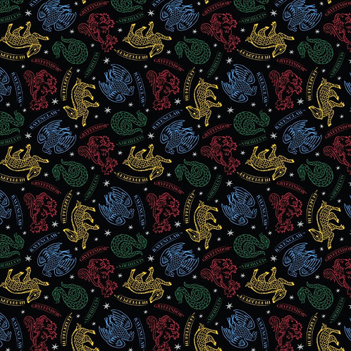 Harry Potter Mystical Houses Fabric