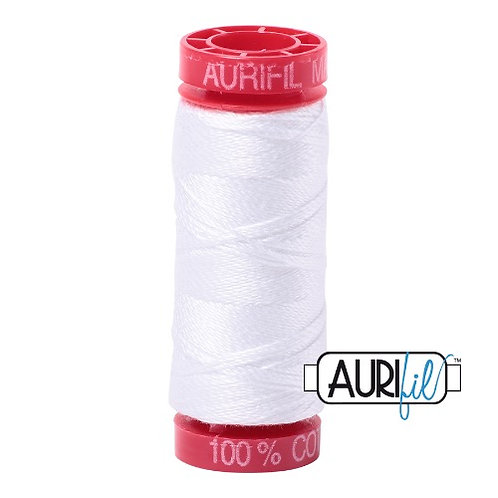 Aurifil 12 50m 2024 White Cotton Thread