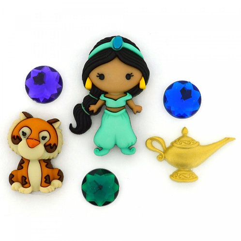 Disney Jasmine Button Embellishments