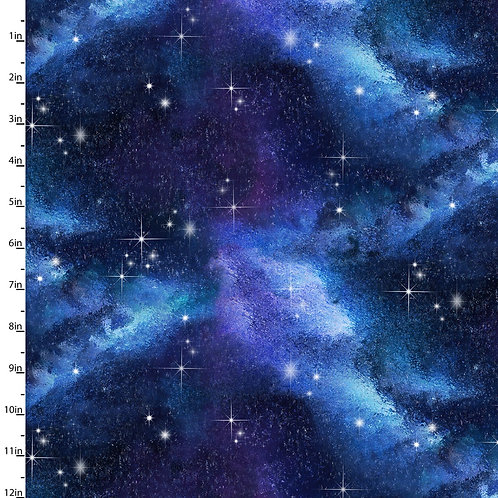 Go Owl Out Night Sky Fabric