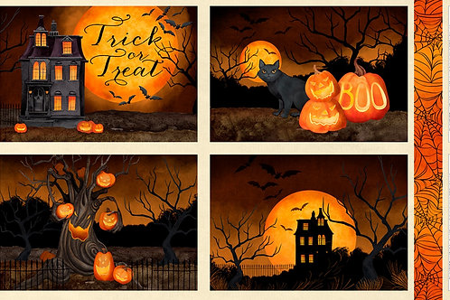 Haunted Night Placemat Halloween Panel