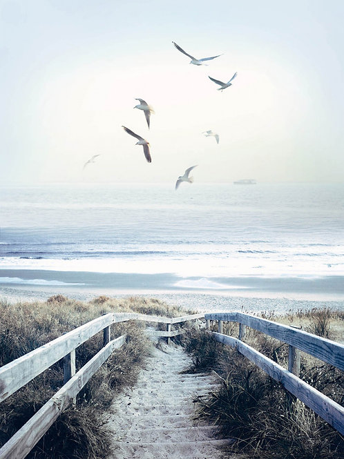 Atlantic Beach Boardwalk Digitally Printed Panel