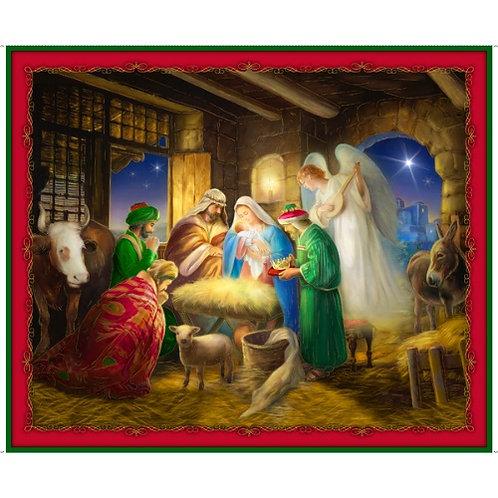 Born Is The King Christmas Panel