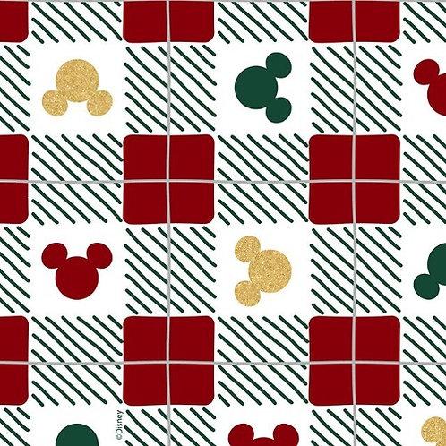 Disney Mickey Mouse Christmas Check Fabric