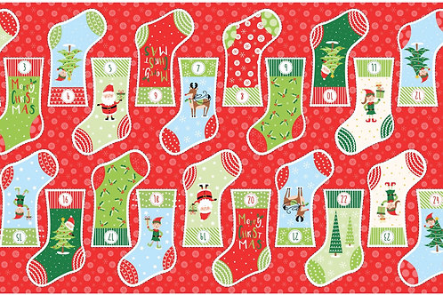 Christmas Stocking Advent Panel