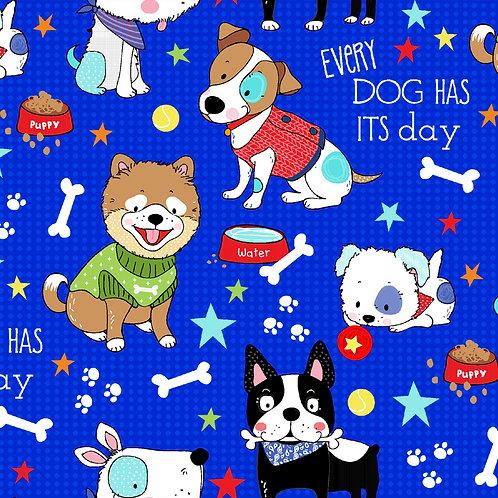 Royal Dog Days Fabric