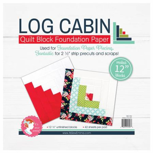 Log Cabin 12in Foundation Paper Pad