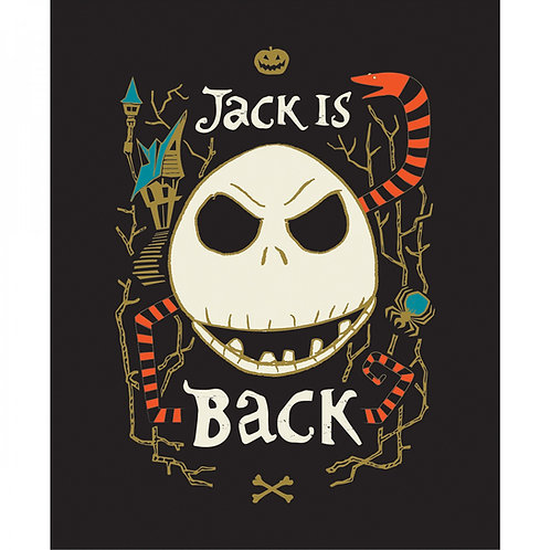 Nightmare Before Christmas Jack Is Back Panel. Glows in the dark