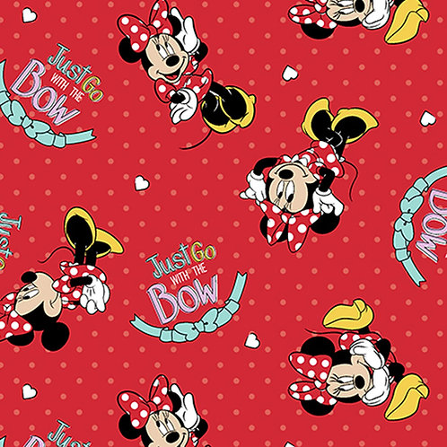 Minnie Mouse Go with the Bow Jersey Fabric