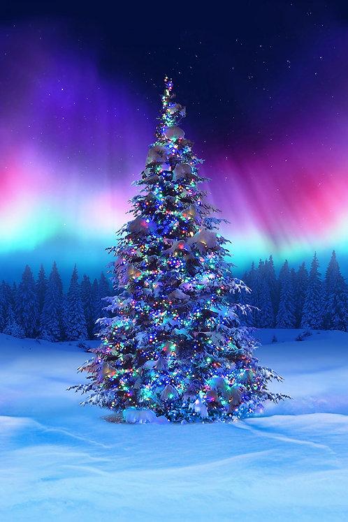 Hoffman Borealis Christmas Tree Panel
