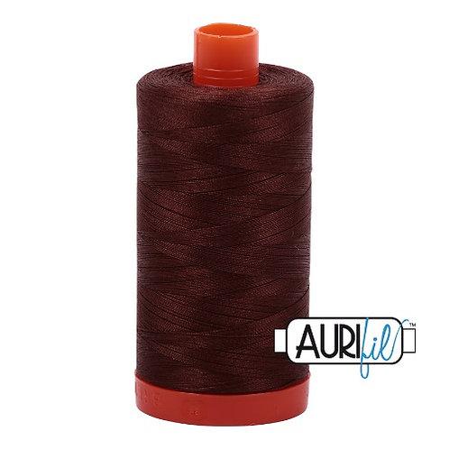 Aurifil 50 1300m 2360 Chocolate Cotton Thread