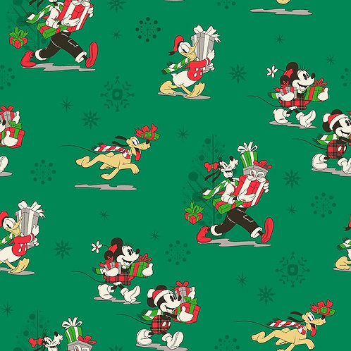 Disney Mickey Mouse and Friends Christmas Day Fabric