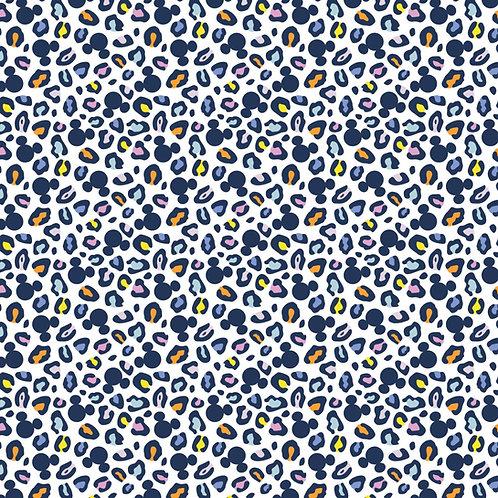 Disney Mickey Mouse Ears Animal Print Fabric - Multi