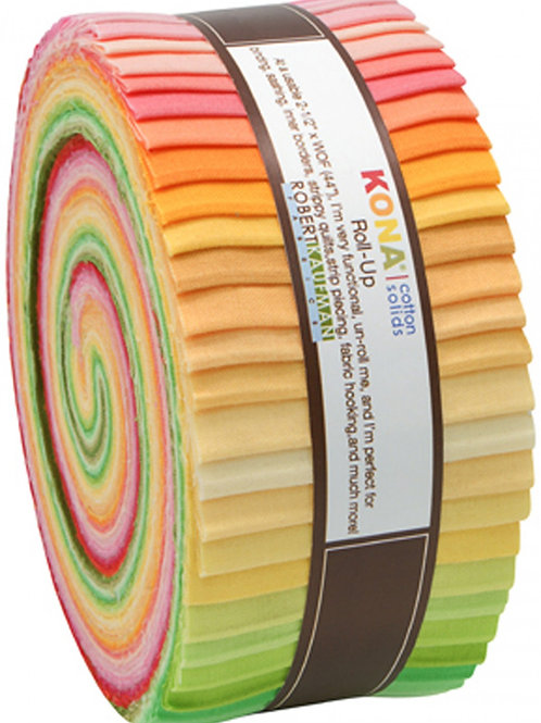 Robert Kaufman Sunrise Kona Solids Roll Up
